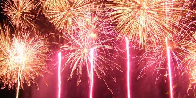 i fuochi d'artificio a capodanno